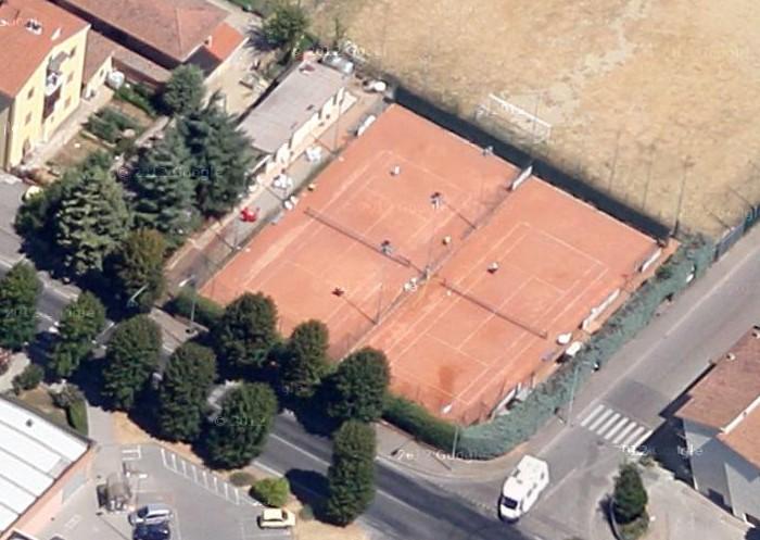 Vista dall' alto dei campi del Tennis Club Staggia