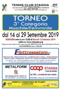 Tc Staggia Torneo 3a categoria 2019 M/F